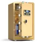 保險櫃 吉文牌保險櫃家用小型指紋密碼加鑰匙辦公室文件防盜床頭隱形入墻45高80cm全鋼CY 自由角落