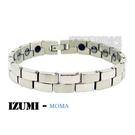 MOMA-【IZUMI】系列白鋼鍺磁手鍊-IS-001M 寬版