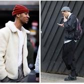 短款毛線帽子男水手帽流氓嘻哈街舞瓜皮帽卷邊針織學生帽冷帽女