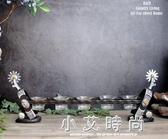 時尚擺件 美式西部牛仔馬術獨特大氣鐵藝燭台擺件裝飾品家居店鋪 小艾時尚.NMS