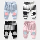 嬰兒條紋長褲 幼兒哈倫褲外出褲【奇趣小屋】