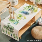 北歐棉麻茶幾桌布客廳簡約長方形電視櫃臺蓋布小清新布藝家用桌布 美斯特精品