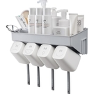 牙刷置物架衛生間壁掛收納洗漱台免打孔牙膏廁所牆上吸盤式浴室盒【快速出貨】