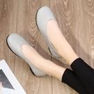 真皮手工森女鞋子女春新款鞋文藝圓頭軟底軟面鞋復古奶奶鞋女【快速出貨】