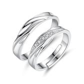 情侶戒指一對純銀對戒