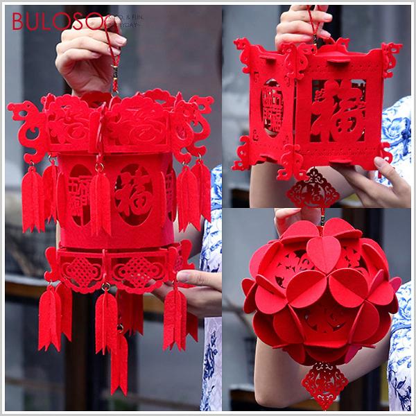 《不囉唆》春節 裝飾小燈籠 (可挑色/款) 宮燈 福球 燈飾 掛件 吊飾 新年 春節 佈置【A426558】