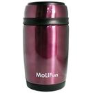 MoliFun 魔力坊 不鏽鋼真空保鮮保溫燜燒食物罐550ml-紫色[衛立兒生活館]