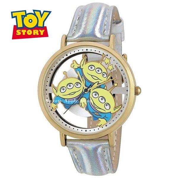 日本正版限定 SUN FLAME 迪士尼 玩具總動員 三眼怪  皮革時尚腕錶