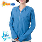 UV100 防曬 抗UV-涼感透氣小帽簷外套-女