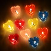 香薰蠟燭 愛心浪漫創意生日布置蠟燭無煙果凍心形蠟燭表白求婚 QG1564『樂愛居家館』