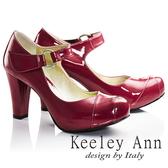 Keeley Ann輕熟名媛 MIT極簡魔鬼氈腳背帶瑪莉珍鞋(桃紅色)