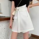 短裙 春夏2021新款時尚港味不規則半身裙子包臀褲裙高腰a字顯瘦短裙女