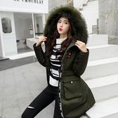 工廠批發價不退換防風保暖2018冬季新款韓版羽絨服中長款寬松大碼棉衣顯瘦棉服保暖外套(1056A)
