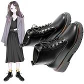 短靴 黑色六孔馬丁靴女英倫風網紅同款潮小短靴女春秋季洋氣ins潮