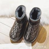 雪地靴-冬季新款防水短筒棉靴學生韓版加絨棉鞋孕婦居家保暖 提拉米蘇