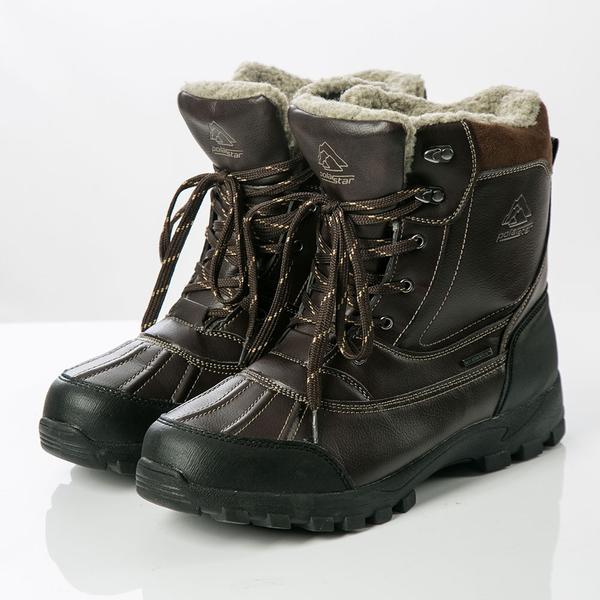 【PolarStar】男防水保暖雪鞋『咖啡』P19634 雪地靴.雪鞋.賞雪.滑雪.雪地必備