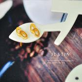 Justin金緻品 黃金耳環 堅定友情 環環相扣 金飾 9999純金耳環 幾何橢圓 曲線