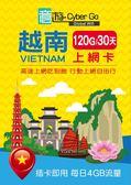【意遊全球wifi】越南上網卡 SIM卡 30天120GB(每日4GB流量,含網內通話)