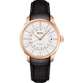 MIDO美度 Belluna 系列日期機械錶-白x玫塊金框/40mm M0244073603109