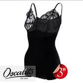 Oscalito-細帶M-L羊毛蠶絲內搭衣(黑)O106380