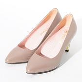 ★新品上市★GREEN PINE 簡約時尚OL尖頭高跟鞋  -可可色
