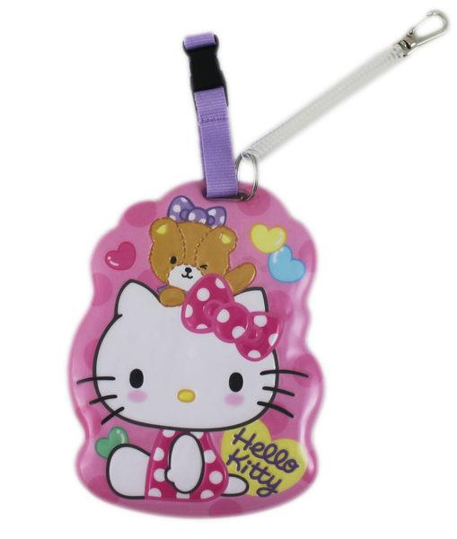 【卡漫城】 Hello Kitty 票卡套 ㊣版 凱蒂貓 掛牌 識別 行李袋 姓名吊牌 書包 名牌套 附吊繩 港版