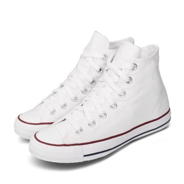 Converse Chuck Taylor All Star 白 紅藍線 基本款 高筒 帆布鞋 男鞋 女鞋【ACS】