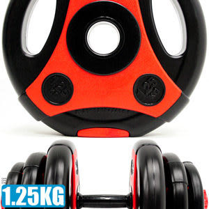 1.25KG手抓孔槓片.啞鈴槓片切面.單片1.25公斤槓鈴片啞鈴片.舉重量訓練.運動健身推薦哪裡買