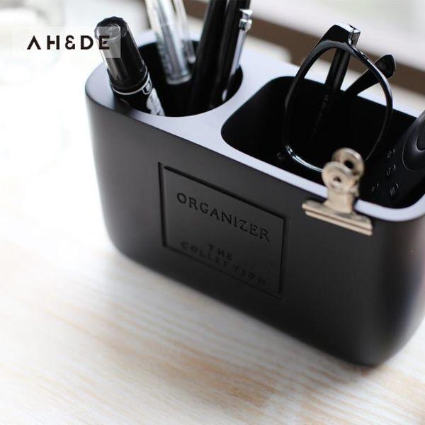 簡約筆筒創意時尚正韓小清新辦公化妝刷歐式復古筆筒收納盒【八五折免運直出】