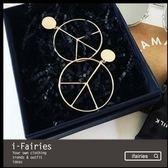 現貨+快速★金屬反戰和平造型鍍金耳環★ifairies【34979】