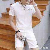 男士休閒套裝夏季新款短袖短褲兩件套韓版日潮夏天一套衣服 QQ30230『東京衣社』