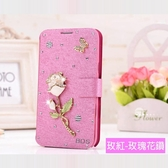 ZenFone6 ZS630KL 小米9 紅米Note7 Y7 pro Mate20 Pro 華為 nova 3i 白玫瑰水鑽皮套 手機皮套 訂製 DC02