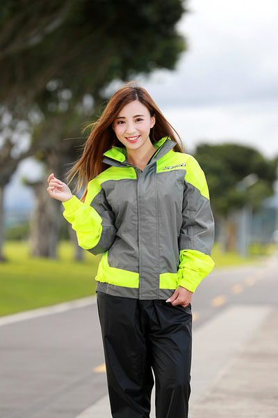M2R兩件式風雨衣,M11,灰螢光黃