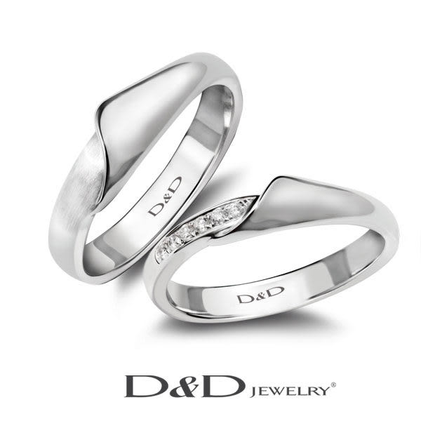 D&D 婚戒 對戒 男戒 心印 LOVE TRULY I