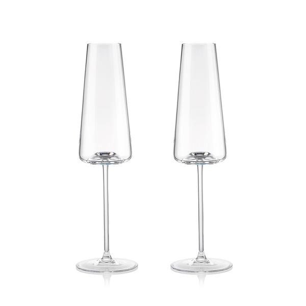 斯洛維尼亞 Rogaska Armonia S/2 Champagne Flute 250ml 達文西系列 手工水晶 香檳酒杯 兩件組