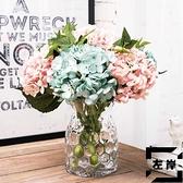 插花瓶手工波點玻璃花瓶 透明擺件創意家居裝飾品【左岸男裝】