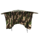 帶大披肩安全帽遮陽帽降溫輕便安全帽遮陽板遮陽罩大帽沿帽檐