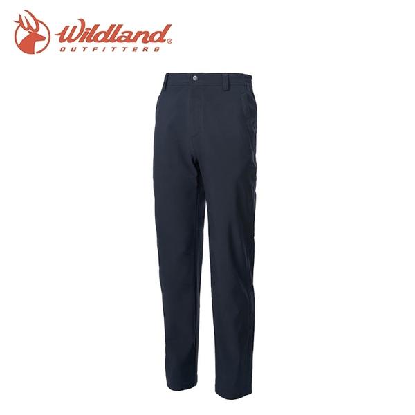 【Wildland 荒野 男彈性輕三層防風保暖長褲《黑》】0A62306/戶外/登山/健行
