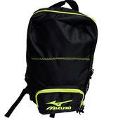 Mizuno 運動後背包-33TD530093-黑配綠