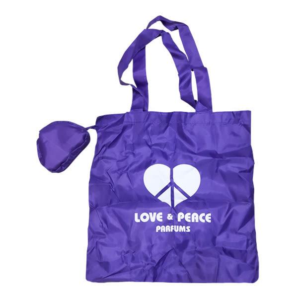 LOVE&PEACE 紫色收納購物袋 10690《Belle倍莉小舖》