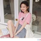 《AB15337》台灣製造 含棉萌系貓咪T恤/上衣 OrangeBear