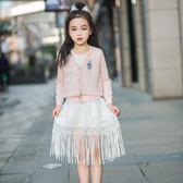 夏季女童針織開襟兒童防曬衣中大童