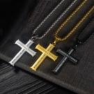 【5折超值價】鈦鋼精品經文十字架潮流日韓流行款男鈦鋼項鍊