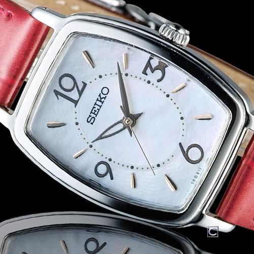 SEIKO vivace 漫遊巴黎簡約太陽能腕錶  V117-0DA0R SWFA167J