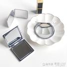 簡約ins冷淡風化妝鏡便攜式隨身鏡子補妝鏡雙面小鏡子高清放大鏡 全館鉅惠