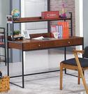 【森可家居】辛西亞工業風書桌(不含椅) 7JX253-1 LOFT復古 實木皮 辦公工作桌