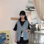 夏季韓版古著款休閒百搭牛仔馬甲女學生馬夾外套上衣潮 JH2050『男人範』