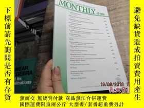 二手書博民逛書店the罕見amercian mathematical month