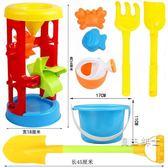 兒童沙灘玩具車套裝桶 沙池玩具寶寶玩沙挖沙大號(1件免運)