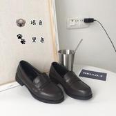 JK鞋 日系學院風 百搭女中學生棕黑皮鞋 動漫女仆萬用lolita JK制服鞋 夏季上新